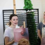 Year 11 Art Students Learn from Rachelle Dusting