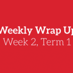 Weekly Wrap Up – Week 2, Term 1 2018