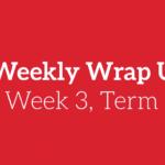 Weekly Wrap Up – Week 3, Term 1, 2018
